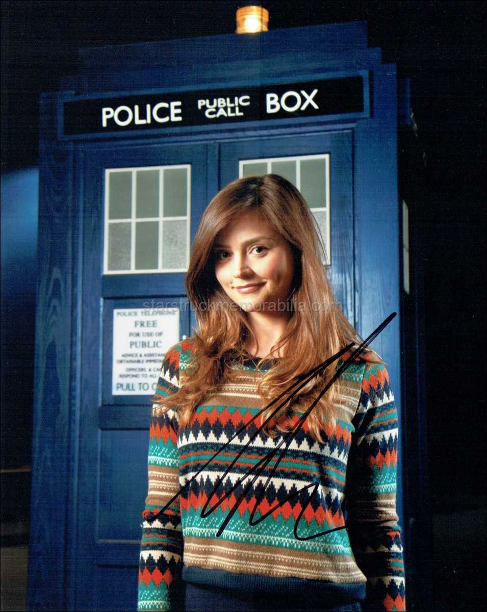 Jenna Coleman Signed 10x8 Photo Autograph