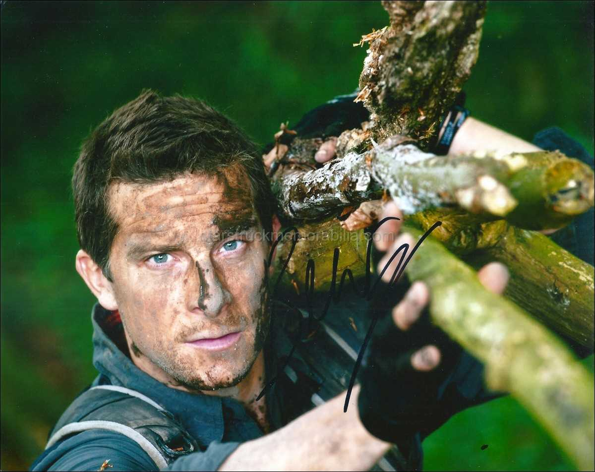 Bear Grylls Signed 10x8 Photo Autograph