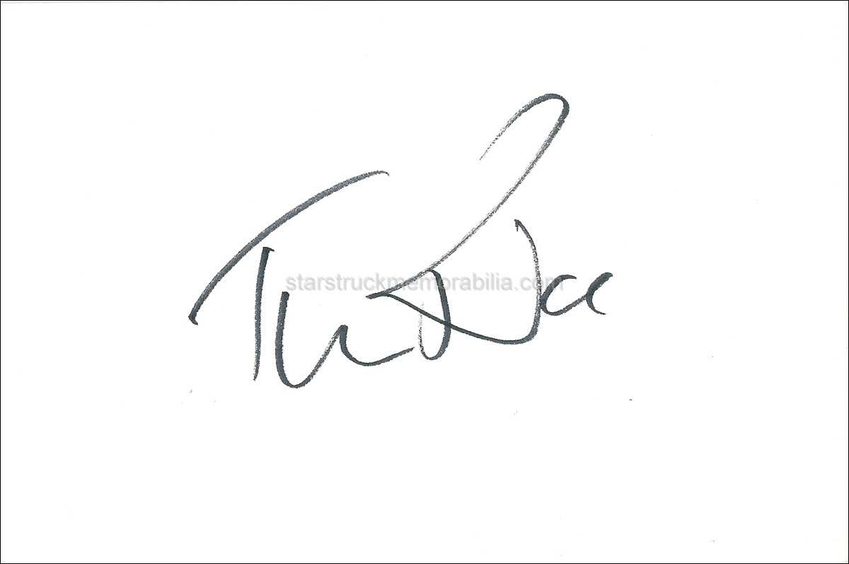 Tim Rice Signed 6x4 White Card Autograph