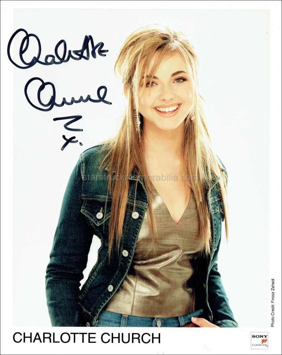 Charlotte Church Signed 10x8 Photo Autograph