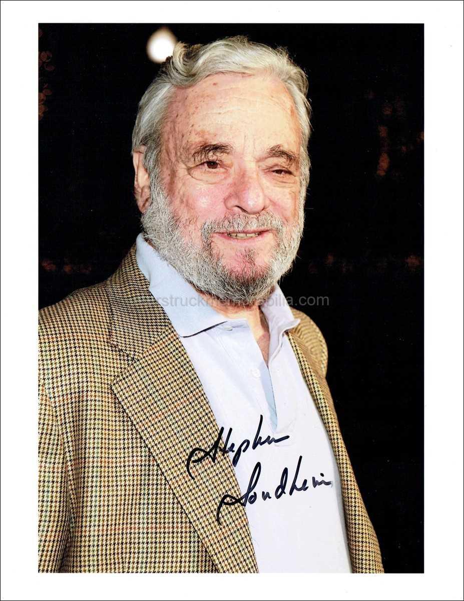 Stephen Sondheim Signed 10x8 Photo Autograph
