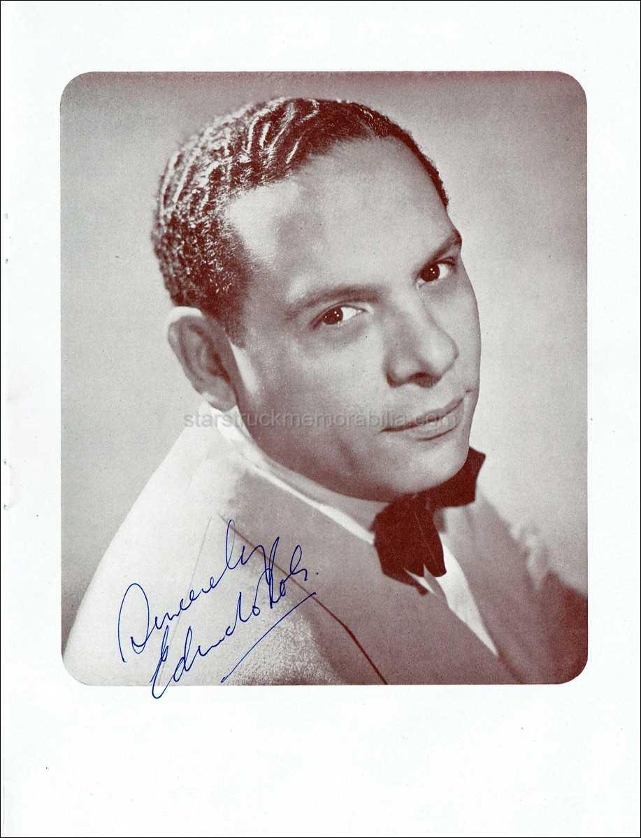 Edmundo Ros Signed 10x8 Programme Autograph