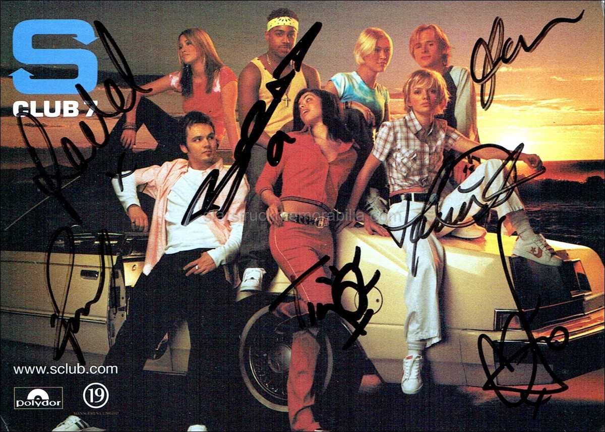 S Club 7 Signed 6x4 Photocard Autograph
